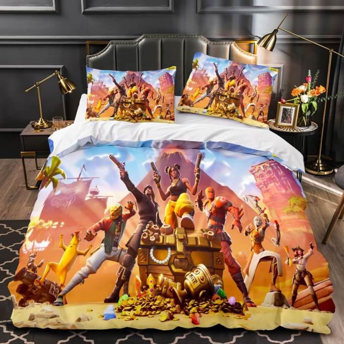 Fortnite Cosplay Bedding Sets Duvet Covers Soft Comforter Bed Sheets