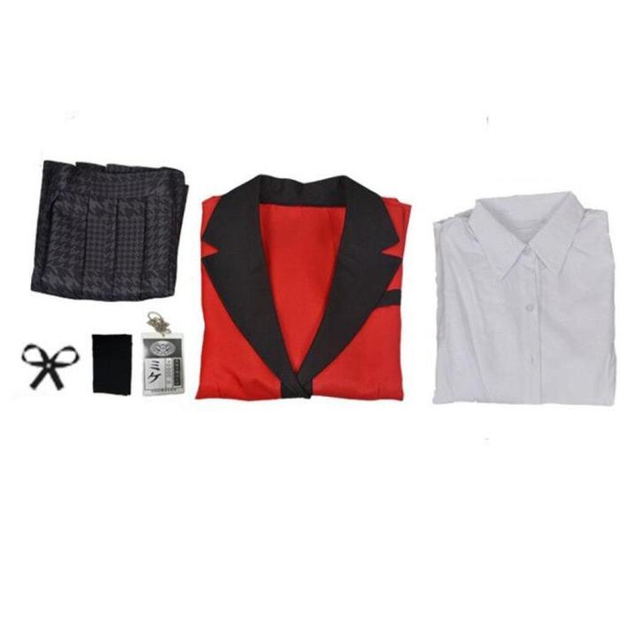 Anime Vetement Manga Meari Saotome Compulsive Gambler School Uniforms Set Cosplay Costumes