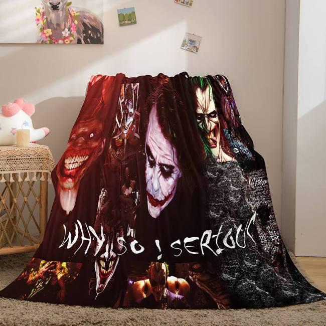 Halloween Horror Theme Flannel Fleece Throw Cosplay Blanket Sets