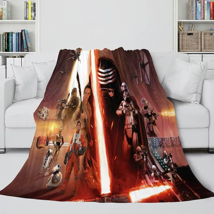 Star Wars Flannel Fleece Throw Cosplay Blanket Shawl Wrap Nap Quilt