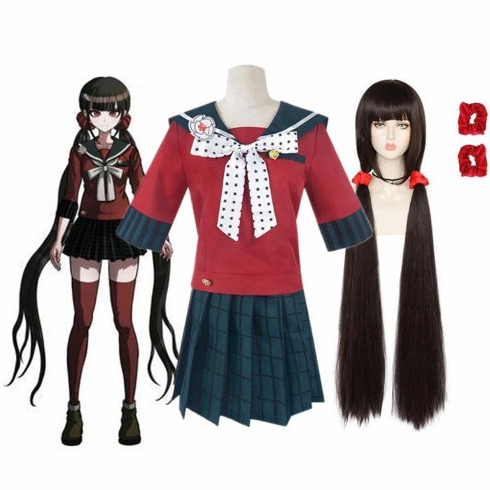 Anime Harukawa Maki Danganronpa V3 Killing Harmony Cosplay Costume Woman Dresses School Uniform