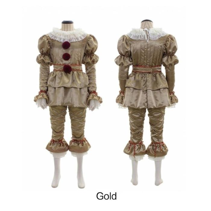 Halloween Costume Movie Clown Stephen King'S It Pennywise Costume Adult Cosplay Halloween Outfit Suit Clown Costume Dress