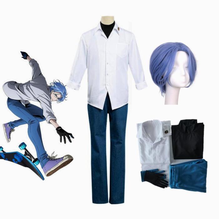 Anime Sk8 The Infinity Langa Hasegawa School Uniform Cosplay Costume