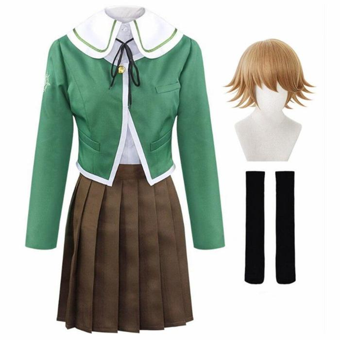 Anime Danganronpa Kuma Chihiro Fujisaki Cosplay Costume Women'S Jk Uniforms Suit Costume
