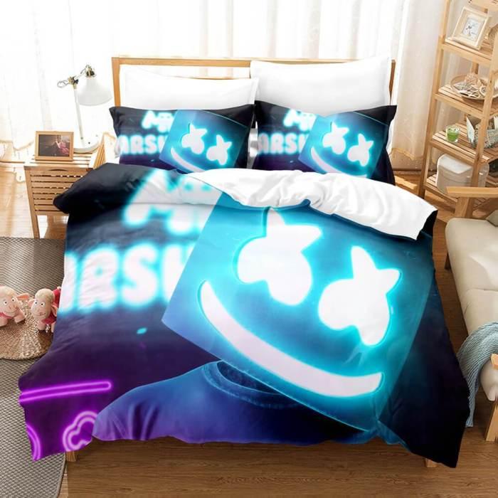 Dj Marshmello Cosplay Bedding Sets Duvet Covers Comforter Bed Sheets