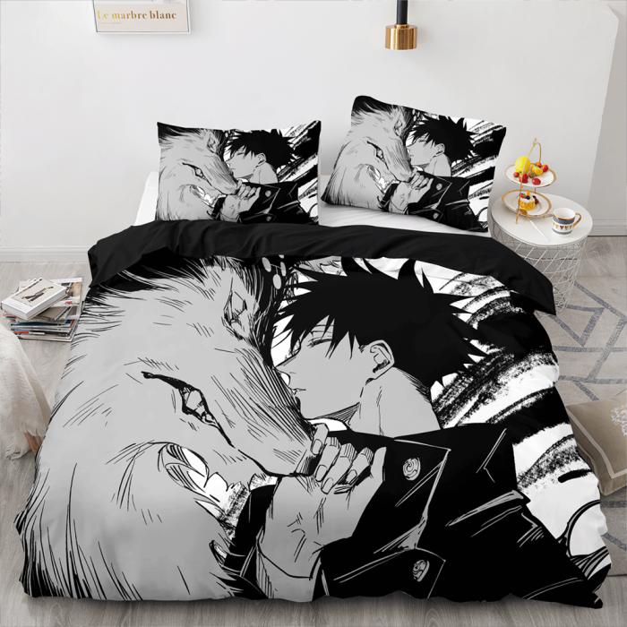 Jujutsu Kaisen Cosplay Bedding Sets Soft Duvet Covers Bed Sheets
