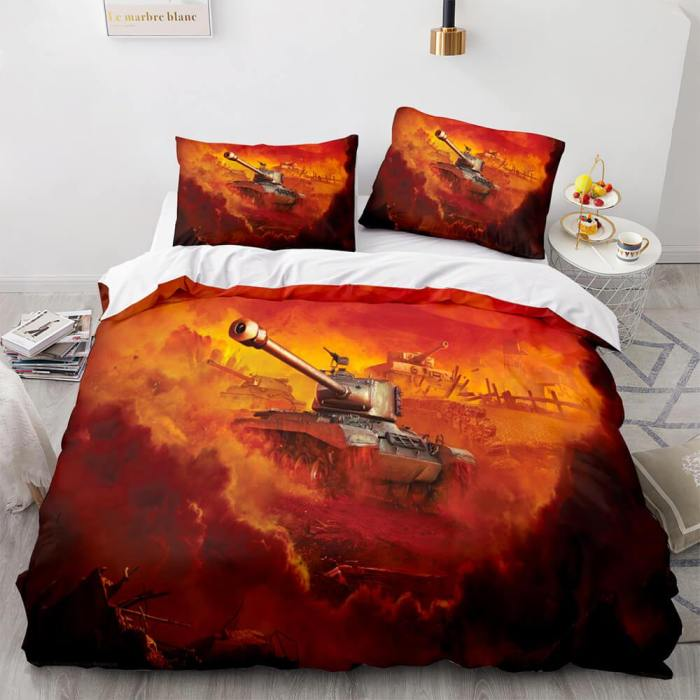 World Of Tanks Bedding Set Quilt Duvet Covers Comforter Bed Sheets