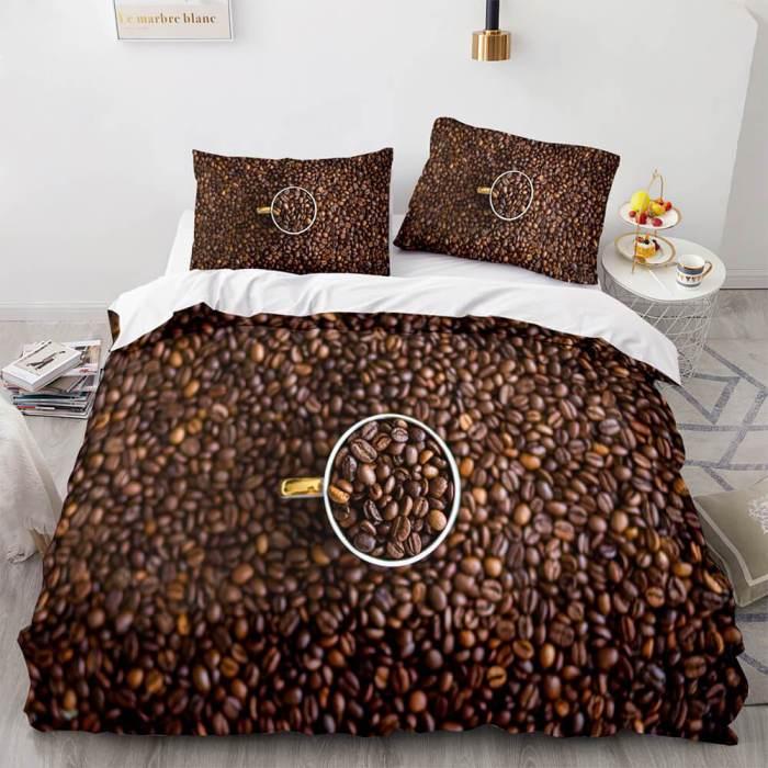 Fine Food Cosplay Bedding Set Duvet Cover Comforter Bed Sheets