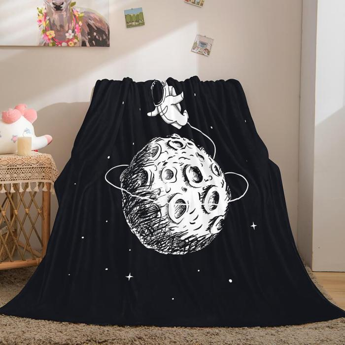 Astronaut Blanket Soft Flannel Blanket Comforter Bedding Sets