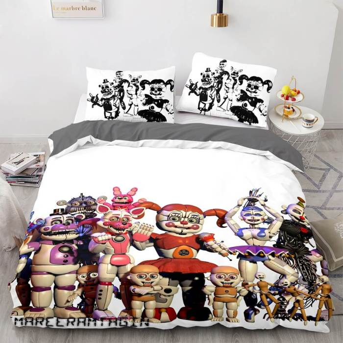 Five Nights At Freddy'S Bedding Sets Duvet Covers Comforter Bed Sheets
