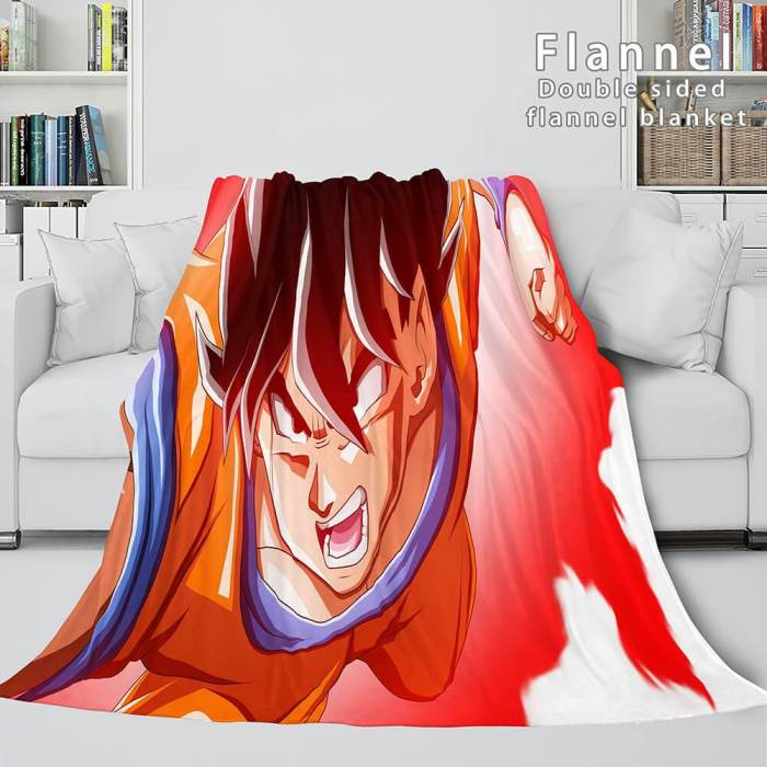 Dragon Ball Cosplay Flannel Blanket Throw Wrap Comforter Bedding Sets