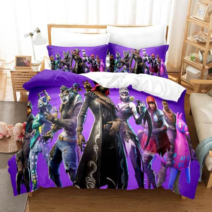 Game Fortnite Cosplay Bedding Set Duvet Covers Comforter Bed Sheets