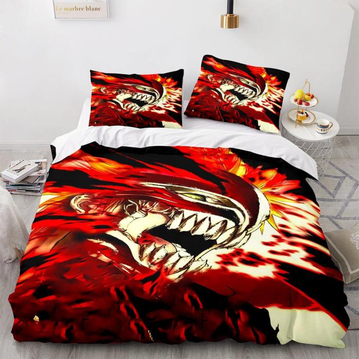 Anime Bleach Cosplay Bedding Sets Quilt Duvet Covers Comfy Bed Sheets