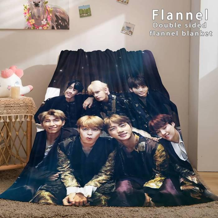 Kpop Bts Butter Bangtan Boys Cosplay Flannel Blanket Bedding Sets