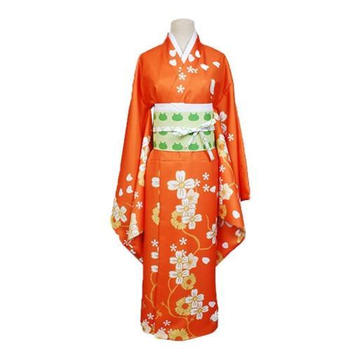 Anime Danganronpa 2 Hiyoko Saionji Cosplay Costumes Girls Hiyoko Orange Dress Kimono Adult Women Halloween Party Costumes