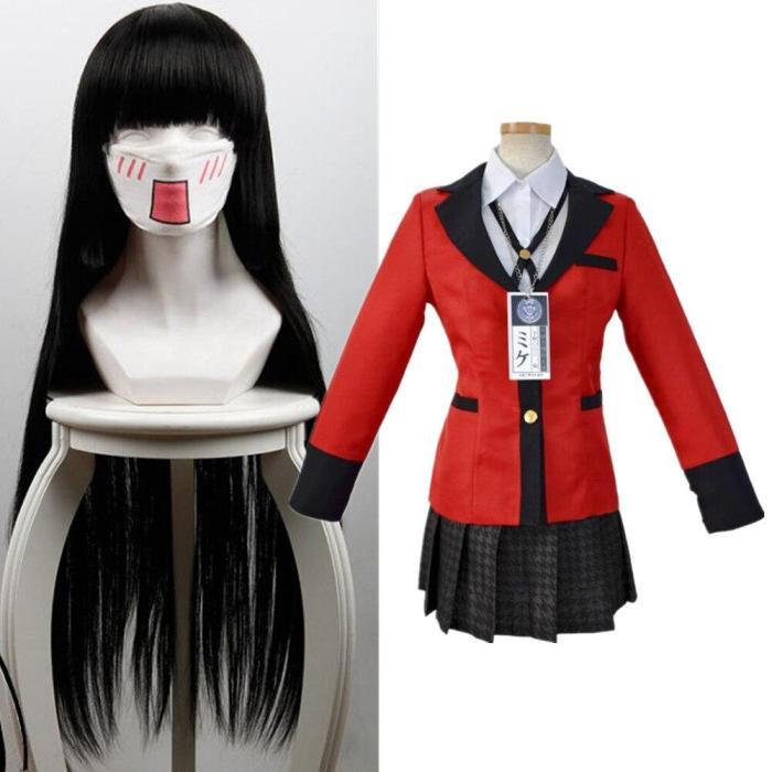 Anime Vetement Manga Uniform Yumeko Jabami Twin Runa Yomozuki  Ikishima Midari Cosplay Costumes