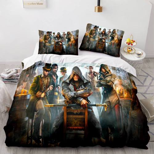 Assassin'S Creed Odyssey Cosplay Bedding Set Duvet Covers Bed Sheets