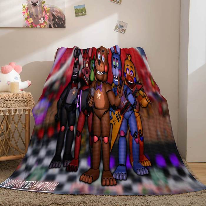 Game Five Nights At Freddy'S Cosplay Blanket Flannel Caroset Throw