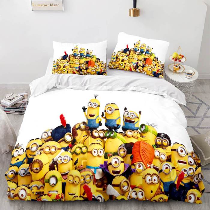 Minions Cosplay Bedding Set Duvet Cover Comforter Bed Sheets