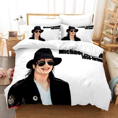 Michael Jackson 3 Piece Bedding Sets Duvet Covers Comforter Bed Sheets