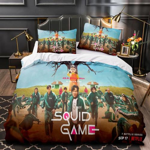 Squid Game Round Six Bedding Set Duvet Covers Comforter Bed Sheets