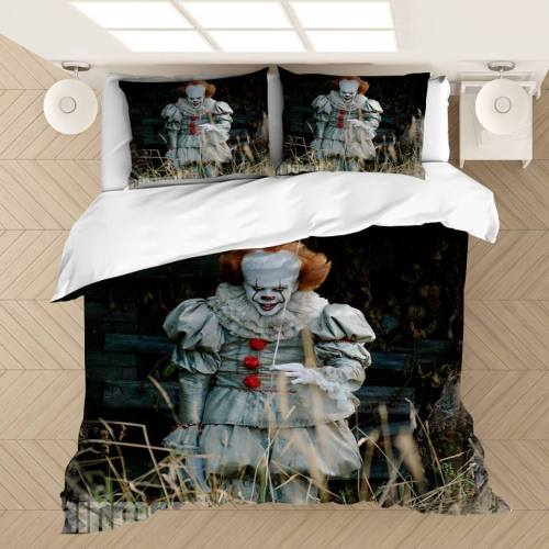 It 2 Pennywise Cosplay Bedding Set Duvet Covers Comforter Bed Sheets