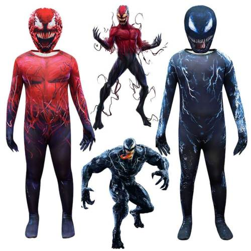 Kids Venom 2 Let There Be Carnage Jumpsuit Halloween Cosplay Costume