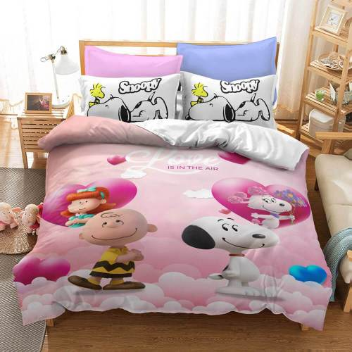 Snoopy Cartoons Cosplay Bedding Sets Duvet Covers Comforter Bed Sheets