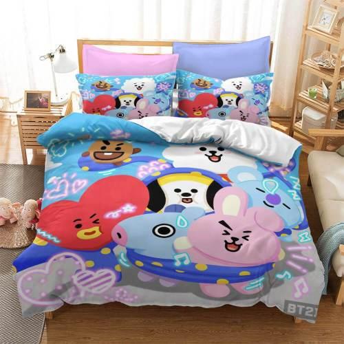 Cartoon Image Cosplay Bedding Set Duvet Covers Comforter Bed Sheets