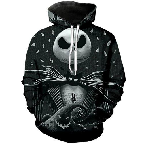 The Nightmare Before Christmas Anime Jack Sally 31 Unisex 3D Printed Hoodie Pullover Sweatshirt