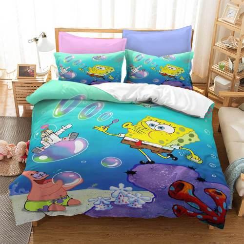 Spongebob Squarepants Bedding Set Duvet Covers Comforter Bed Sheets