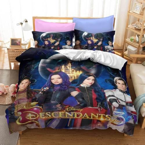Descendants Cosplay Bedding Sets Duvet Covers Comforter Bed Sheets