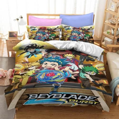 Cartoon Animation Cosplay Bedding Set Duvet Cover Comforter Bed Sheets
