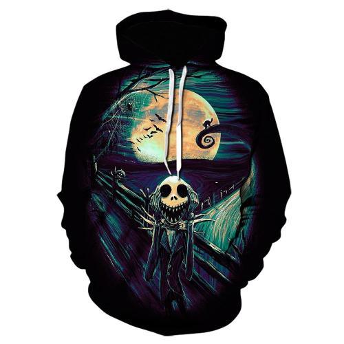 The Nightmare Before Christmas Anime Jack Sally 30 Unisex 3D Printed Hoodie Pullover Sweatshirt