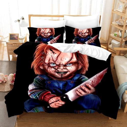 Child'S Play Cosplay Bedding Set Duvet Covers Comforter Bed Sheets