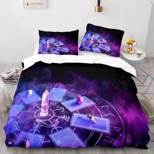Tarot Divination Constellation Bedding Set Duvet Covers Bed Sheets