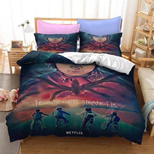 Stranger Things 2 Cosplay Bedding Set Duvet Cover Comforter Bed Sheets