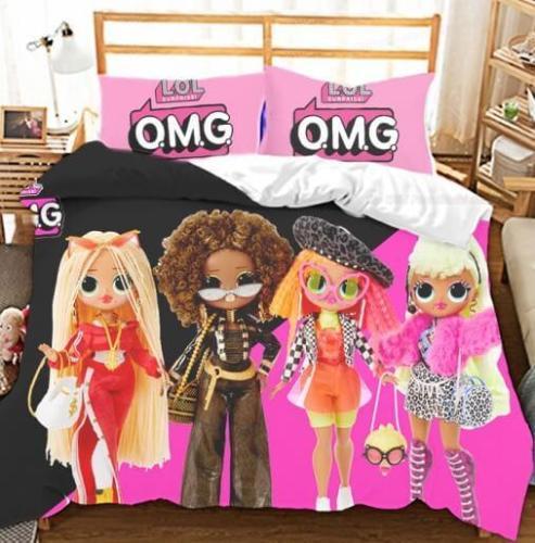 Lol Surprise 3 Piece Bedding Set Duvet Covers Comforter Bed Sheets