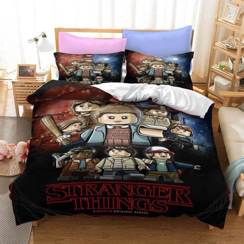 Stranger Things Cosplay Bedding Sets Duvet Covers Comforter Bed Sheets