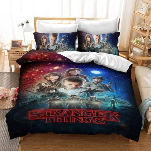 Stranger Things Bedding Set 3 Piece Duvet Covers Comforter Bed Sheets