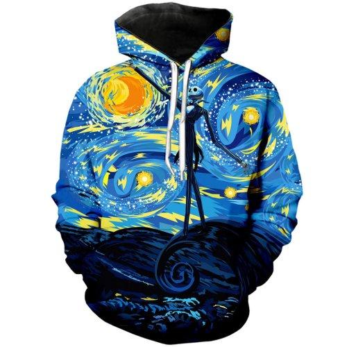 The Nightmare Before Christmas Anime Jack Sally 34 Unisex 3D Printed Hoodie Pullover Sweatshirt