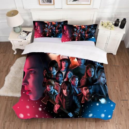 Stranger Things Bedding Sets 3 Piece Duvet Covers Comforter Bed Sheets