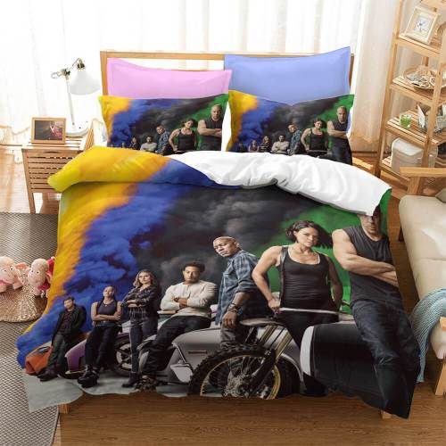 Fast & Furious Cosplay Bedding Set Duvet Covers Comforter Bed Sheets