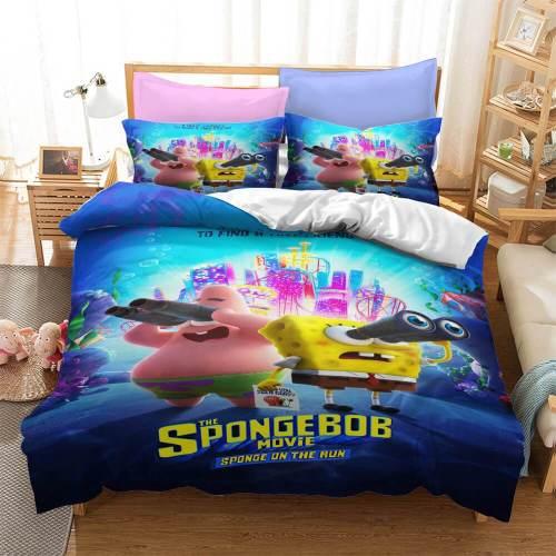 Cartoon Spongebob Squarepants Bedding Sets Duvet Covers Bed Sheets