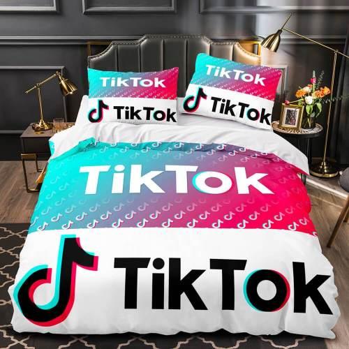 Tiktok Bedding Set Tik Tok Quilt Duvet Covers Comforter Bed Sheets