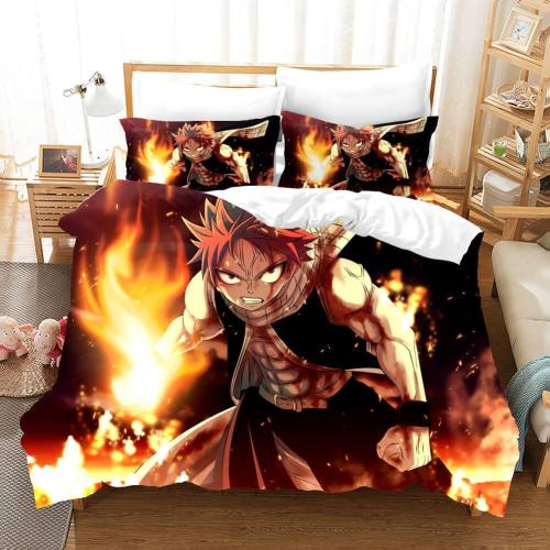 Anime Fairy Tail Cosplay Bedding Set Duvet Covers Comforter Bed Sheets