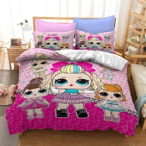 Lol Surprise Cosplay Bedding Set Duvet Covers Comforter Bed Sheets