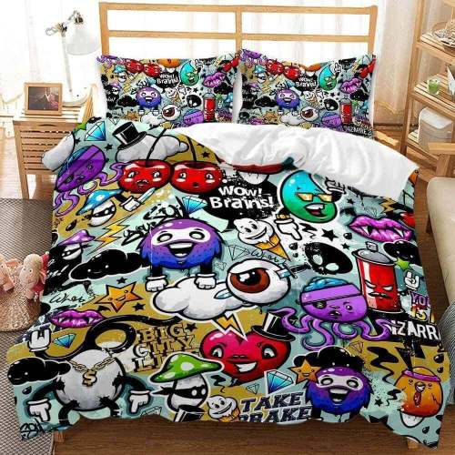 Classic Cartoon Animation Bedding Set Duvet Cover Comforter Bed Sheets