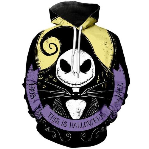 The Nightmare Before Christmas Anime Jack Sally 32 Unisex 3D Printed Hoodie Pullover Sweatshirt