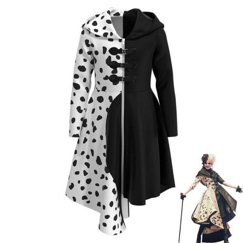 Cruella De Vil Costume Cosplay Kids One Hundred And One Dalmatians Character Dress Up Full Sets